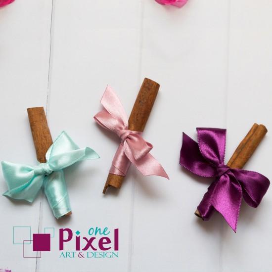 Канелени пръчици с декорация - подарък за гости